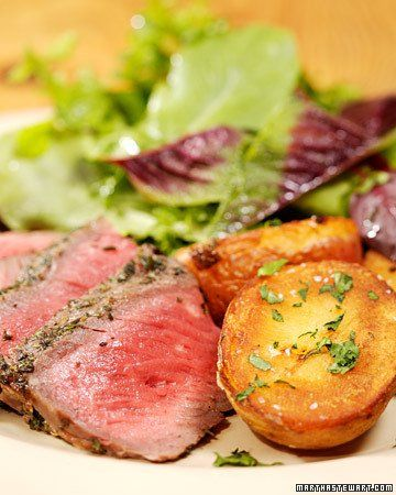 Grilled Sirloin Steak with Herbs   Recipe
