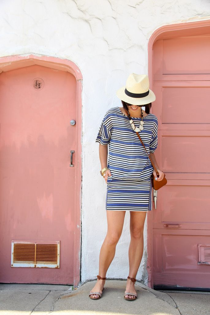 stripes and straw