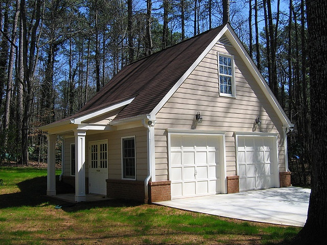 Garage gable roof w shed roof entry garage ideas for Shed roof garage