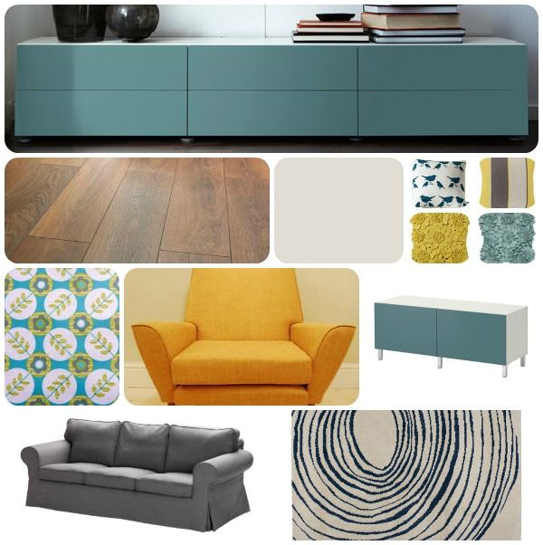 really like the color combo  Our Narrow Family Room  Pinterest