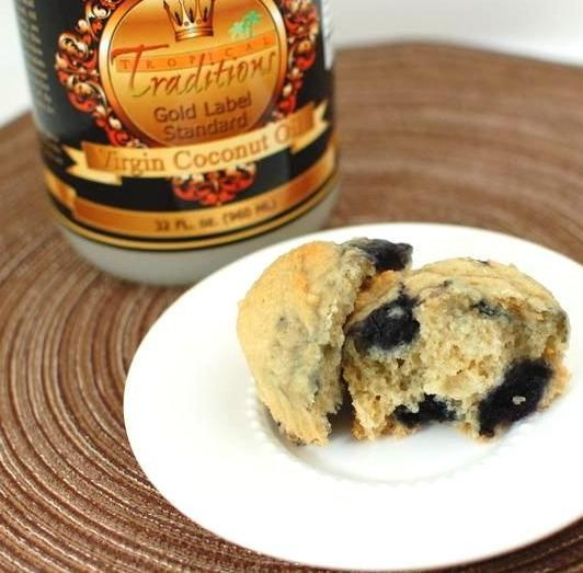 coconut oatmeal blueberry muffins | Comida