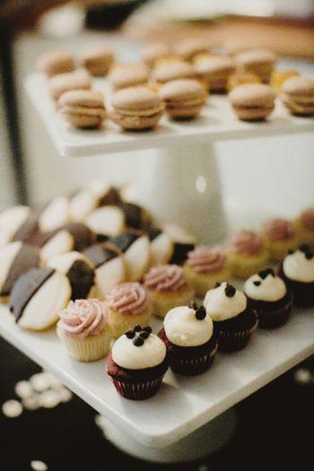 Black and White cookies, red velvet cupcakes and vanilla raspberry ...