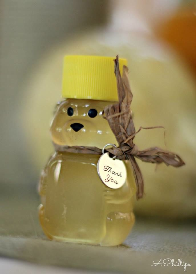 Wedding Favor Tags Michaels : Wedding favor- bear filled with honey. Tags from Michaels Crafts