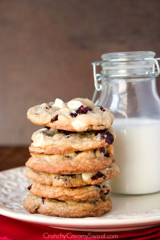 White Chocolate Cranberry Cookies | Recipe