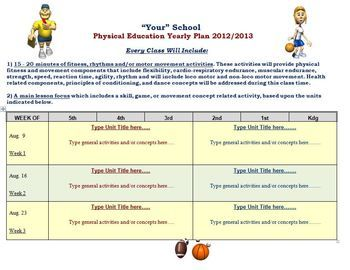 physical education template