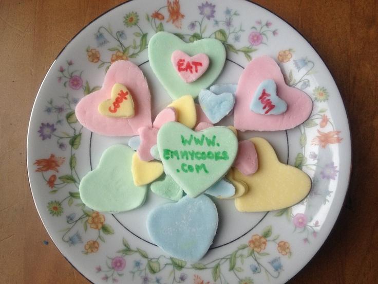 Homemade conversation hearts! | Kids Valentines Class | Pinterest