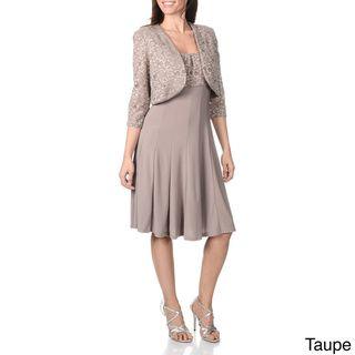 Model  Richards Women39s Royal Lace And Ruffled Detailed Dress And Jacket Set