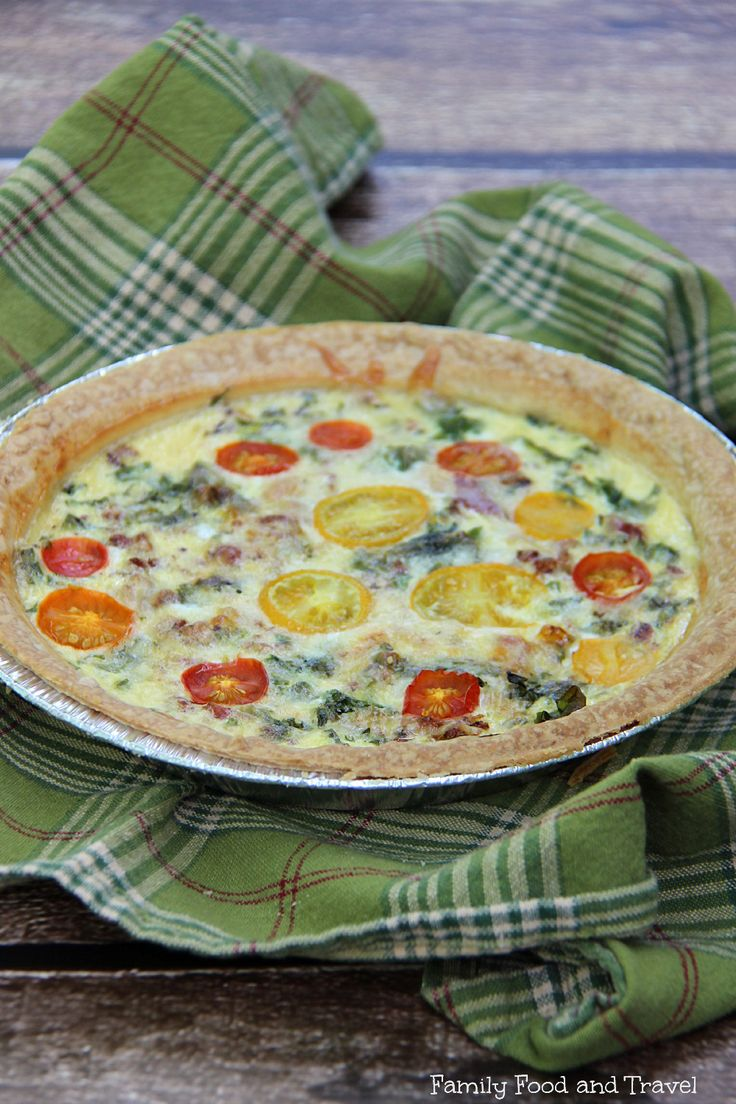 Bacon Tomato and Kale Quiche - easy to make, freezable and packed full ...