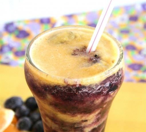 Blueberry Sunset Slushie | Super Sips | Pinterest