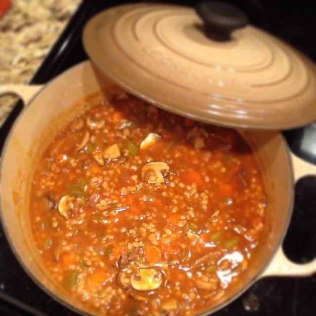 Comforting Beef Barley Soup | Yummy soups | Pinterest