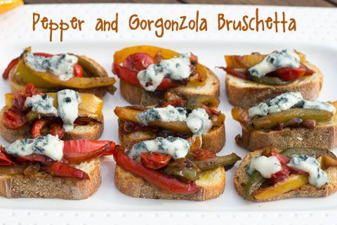 Pepper and Gorgonzola Bruschetta made with Colavita Argentinian Extra ...