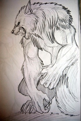 Scary werewolf drawings - photo#17