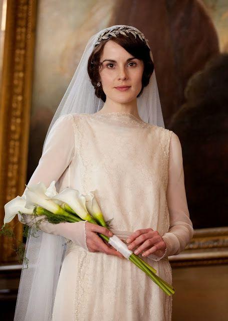 rose downton abbey wedding dress images