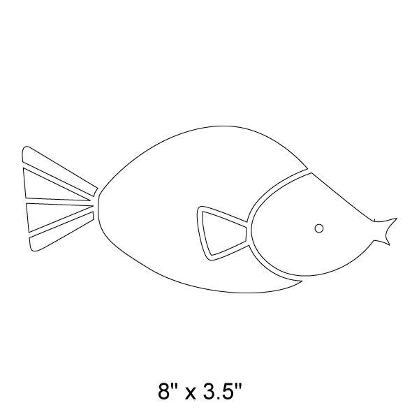 simple fish stencil