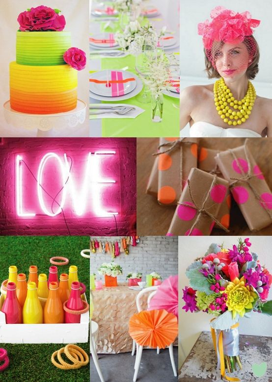 Neon Wedding Colours from The Wedding Community