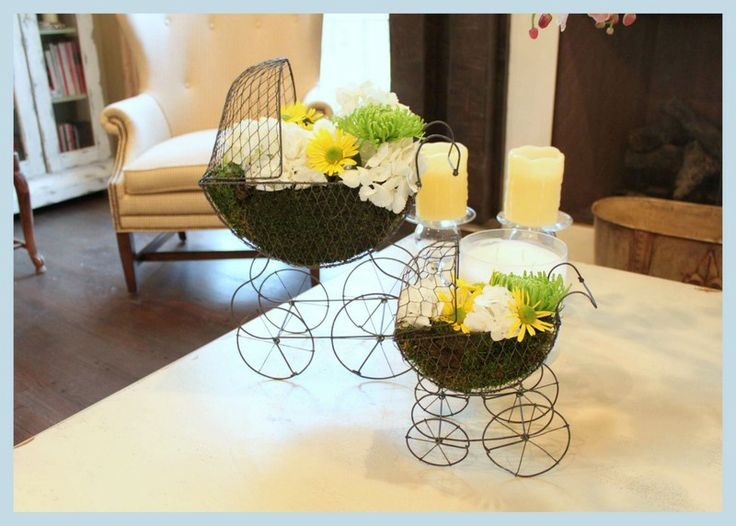 baby shower flowers arrangements | Showered with Elephants..Baby Shower!