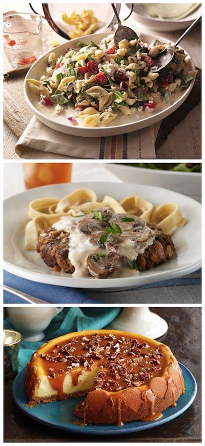 : Creamy Mediterranean Pasta Salad | Salisbury Steak with Creamy ...
