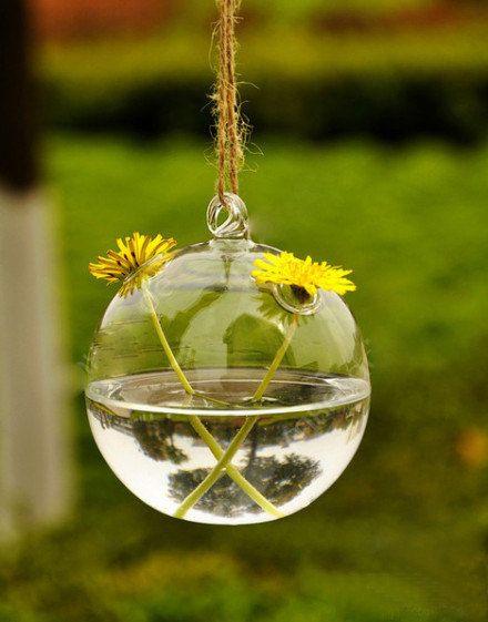 Globe Glass Hanging Planter Container Vase Pot Home Wedding Decoration ...