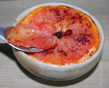 Rise and shine pink grapefruit brulee | Recipe