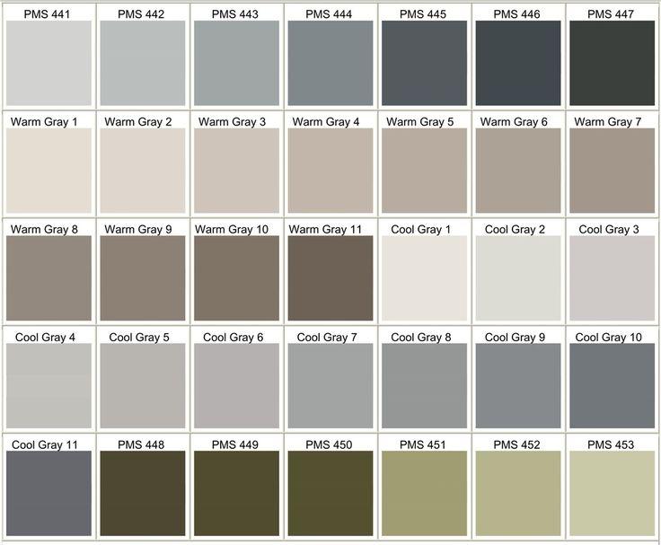 Similiar Designer Pantone Color Chart Grey Keywords
