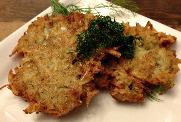 Sweet Potato Latkes with Brie & Baby Arugula | Recipe