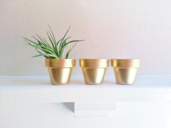 Gold Mini Planters