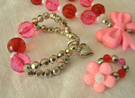 valentine's sweetheart plaid nails