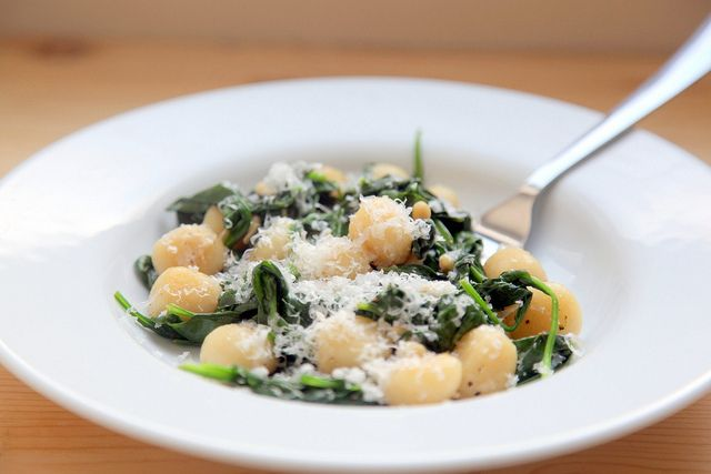 Brown butter gnocchi with spinach | Recipes | Pinterest