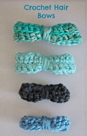 Crochet Hair Ribbons : Crochet hair bows From My Blog Pinterest
