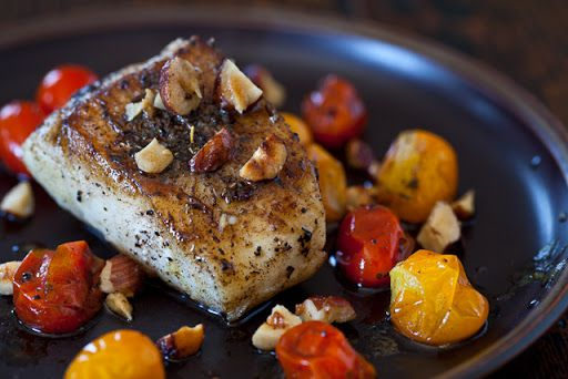 Cod Fish with Hazelnut Browned Butter Recipe on Yummly