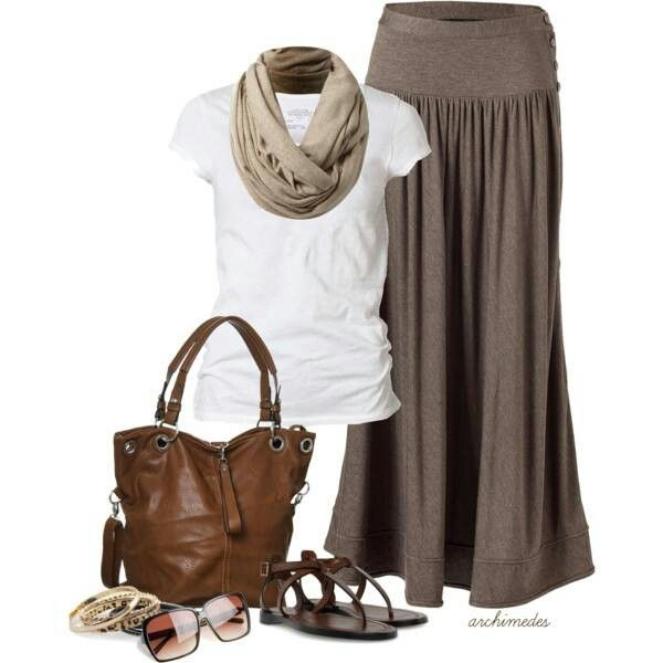 maxi skirt casual my style