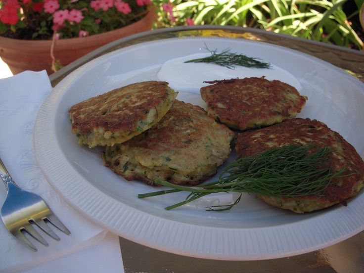 Zucchini Pancakes With Dill And Fresh Ricotta Recipe — Dishmaps