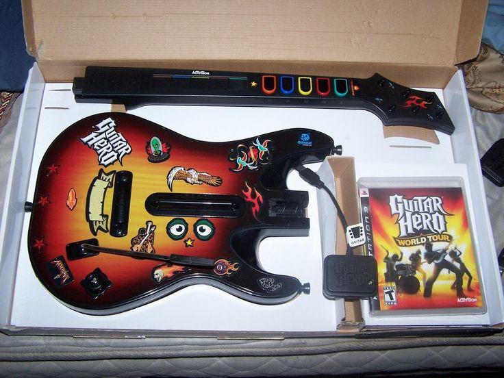 ps3 guitar hero world tour bundle sunburst wireless guitar. Black Bedroom Furniture Sets. Home Design Ideas