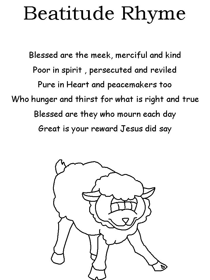 coloring pages beatitudes - photo#27