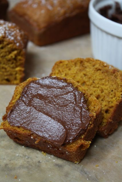 Pumpkin Spice Bread with Chocolate Cream Cheese Spread - Blue-Eyed ...