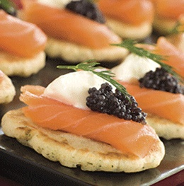 Blinis with Caviar | Recipes - Appetizers & Dips | Pinterest