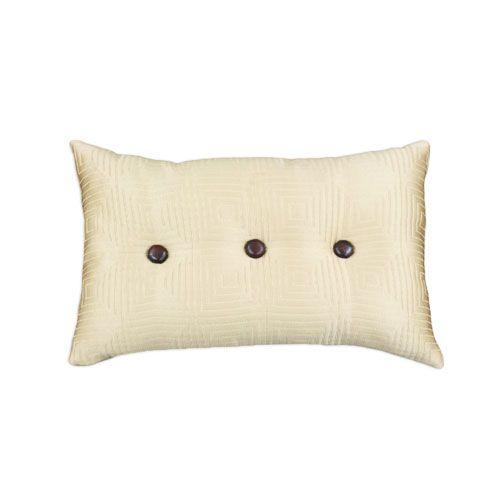 Throw Pillows With Buttons : Three-Button Tetramaze Throw Pillow