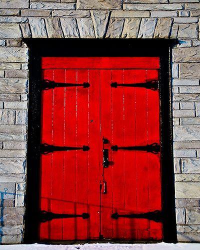 Red Double Doors Red Doors Pinterest
