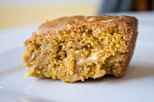 Pumpkin Blondies | Sugarcrafter Oh man, these look DELICIOUS