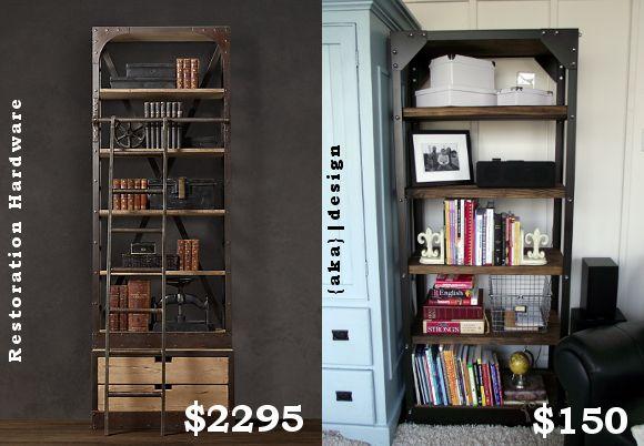 DIY Project: Restoration Hardware Inspired Shelves