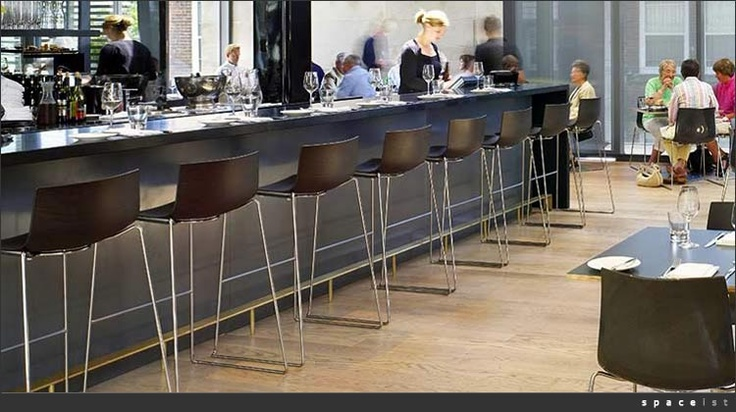 Catifa 46 Bar Stools In Dark Oak Veneer In Situ Arper