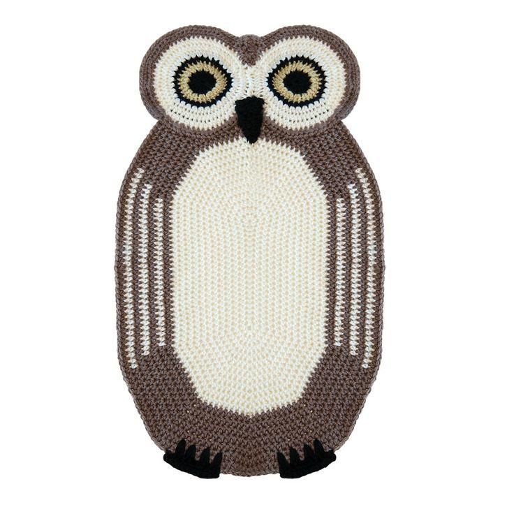 Crochet Owl Rug Pattern: Crochet Owl Rug