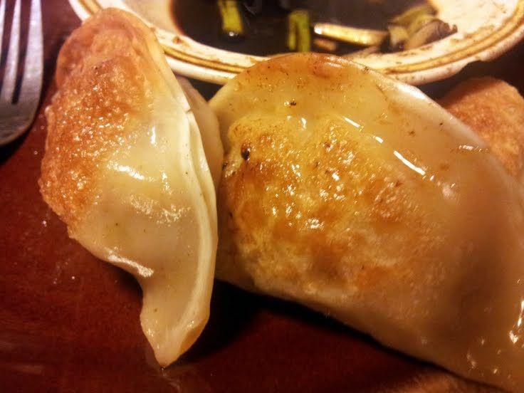 Pork And Shrimp Pot Stickers Recipe — Dishmaps