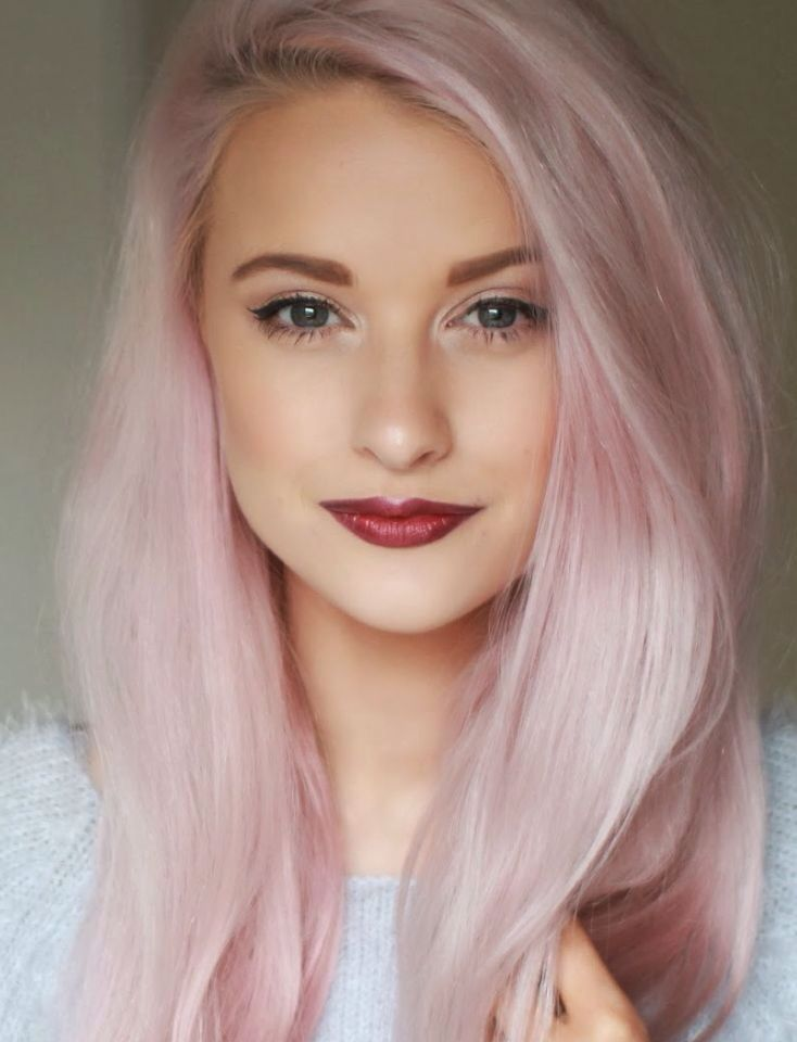 Light Pink Hair Hair Nails Makeup Pinterest
