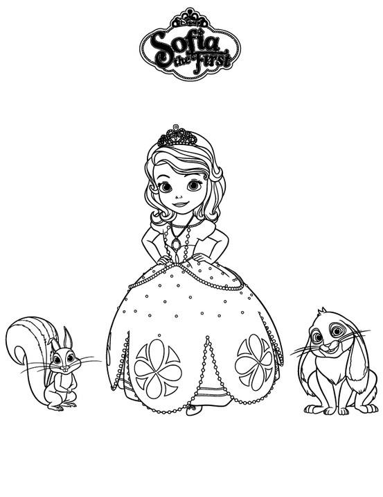 best Dibujos Para Colorear De La Princesita Sofia Y Sus Amigos image ...