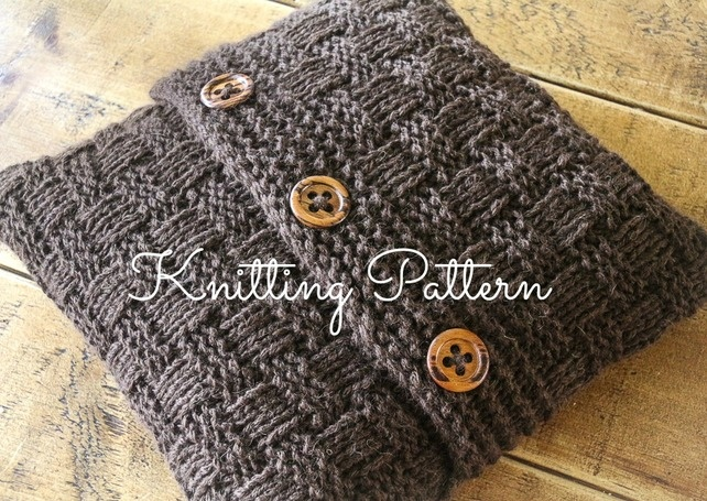 Knitting Patterns For Cushion Covers : Knitting Pattern - Super Chunky Basketweave Cushion Cover ?2.80 Ideas for s...