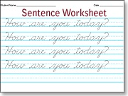 Cursive worksheet maker online
