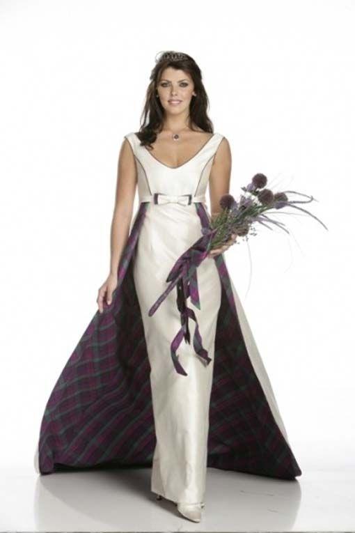 Scottish dress beautiful wedding dresses old and new for Scottish wedding dresses with tartan