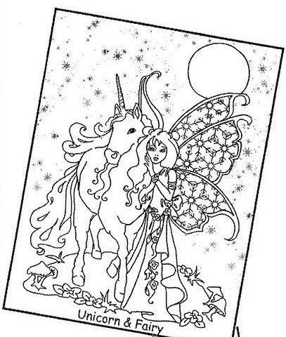 Unicorn amp Fairy Fairy coloring