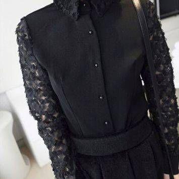 เสื้อแฟชั่น monday night shirt (black)